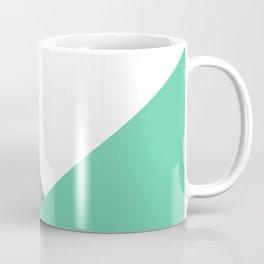 Concrete vs Aquamarine Geometry Coffee Mug