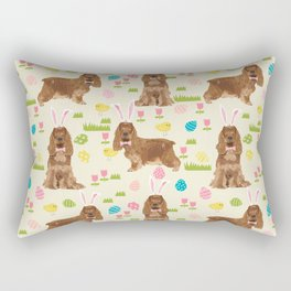 Cocker Spaniel easter eggs easter bunny cute spring dog pattern design for spaniel owners Rectangular Pillow