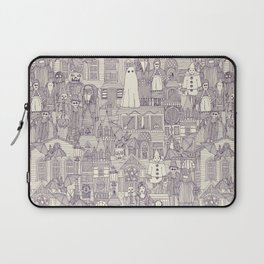 vintage halloween purple ivory Laptop Sleeve