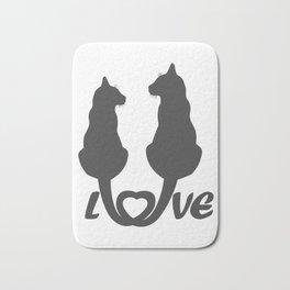 Valentine's Day Cat Lover Graphic design Bath Mat