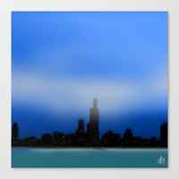 chicago Canvas Prints featuring Chicago by dBranes