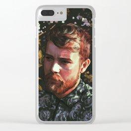 Flower Portrait Clear iPhone Case