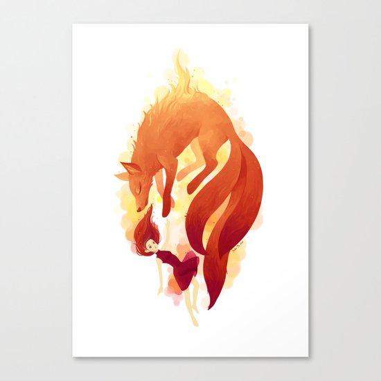 Fire Fox Canvas Print
