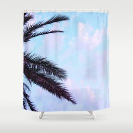Palm Leaves Pastel Clouds #1 #decor #art #society6 Shower Curtain