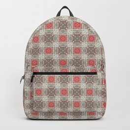 Coral Geometric Pattern # 5 Backpack
