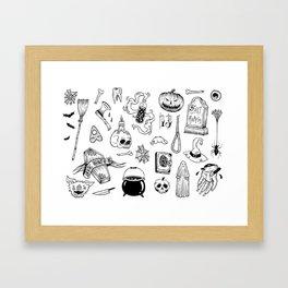 halloween flash Framed Art Print