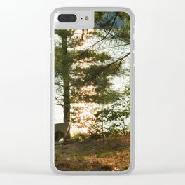 450 - Boat at the Cottage Clear iPhone Case