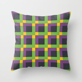 Overlapping Squares II Throw Pillow