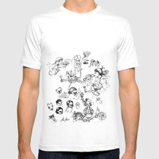 Drawing III White MEDIUM Mens Fitted Tee