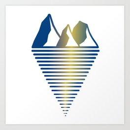 Mountain & Inlet Art Print