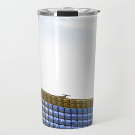modern buildings with blue at Las Vegas, USA Travel Mug
