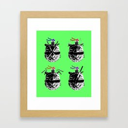 Heroes in a Half Shell Color Framed Art Print
