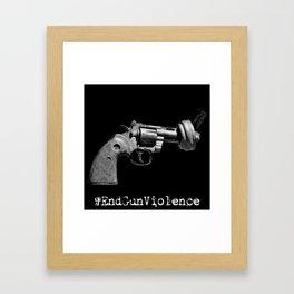#EndGunViolence Framed Art Print