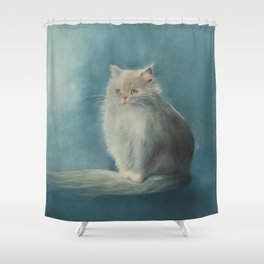 Fluffy Persian Cat Shower Curtain