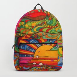 Psychadelic Illustration Backpack