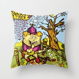 The Champion slugger Throw Pillow