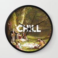 chill Wall Clocks featuring Chill by eARTh