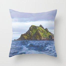 Skellig Michael Ireland Massed Ripple Inhospitable Island Isolated Throw Pillow