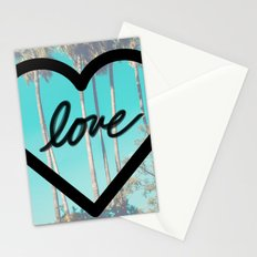 Beach Love Heart Palms Stationery Cards