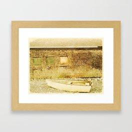 Rockland, Me Dory Framed Art Print