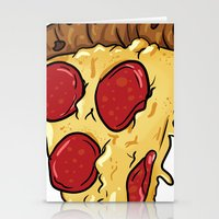 pizza Stationery Cards featuring Pizza by jeff'walker