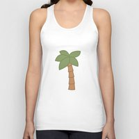 palm tree Tank Tops featuring Palm Tree by George Hatzis