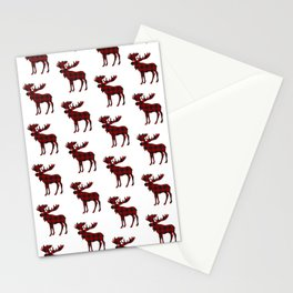 Buffalo Check Moose Stationery Cards