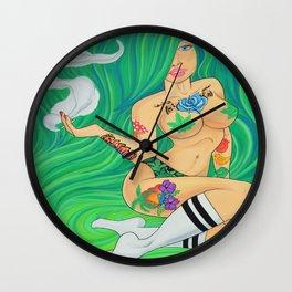 Green Goddess, Smoking Lady Series Wall Clock