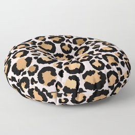 Animal print - pink copper Floor Pillow