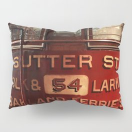 S.F. Cable Car Pillow Sham