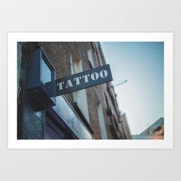 Tattoo Brick Lane Art Print