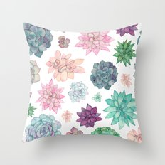 Succulent Garden Throw Pillow
