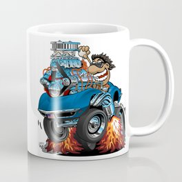 Classic '69 American Sports Car Cartoon Coffee Mug