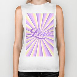 Abstract Geometric stripes with Unicorn Colors design Biker Tank