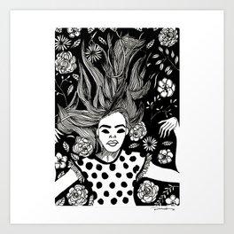 I just need a flower nap. Art Print