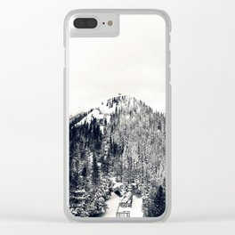 Only Half the Trees, Dusted in Snow Clear iPhone Case