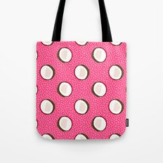 Coconuts memphis pattern retro 80s throwback style classic tropical summer vibes Tote Bag