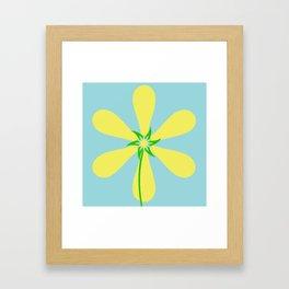 Flower Power - Blue Framed Art Print