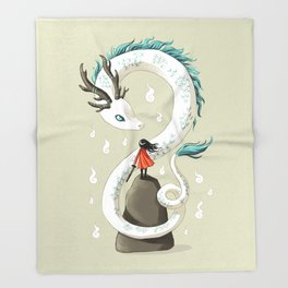 Dragon Spirit Throw Blanket