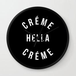 Créme Hella Créme Wall Clock