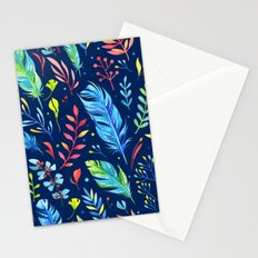 Feathers Pattern 02 Stationery Cards