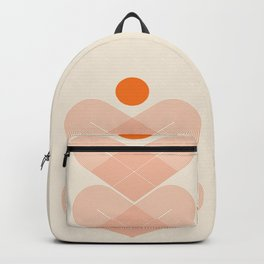 Abstraction_SUN_HEART_LINE_VISUAL_ART_Minimalism_001 Backpack