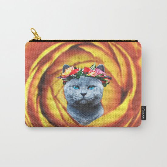Flower Cat  Carry-All Pouch