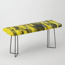 abstract composition in yellow and grays Bench