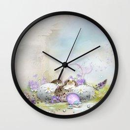 Easter Eggs Wall Clock