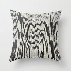 Zebra Wood Throw Pillow