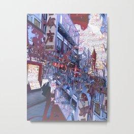 Yokohama Chinatown Metal Print