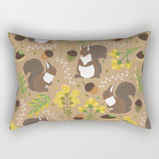 Chocolate squirrels Rectangular Pillow