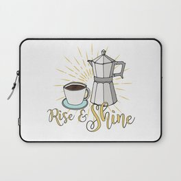 Rise and shine | Coffee art print | Stovetop espresso Laptop Sleeve