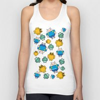 android Tank Tops featuring Android time by DeLaEmme